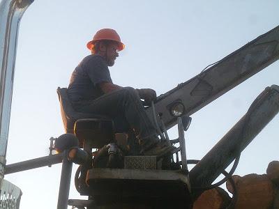 old log loader